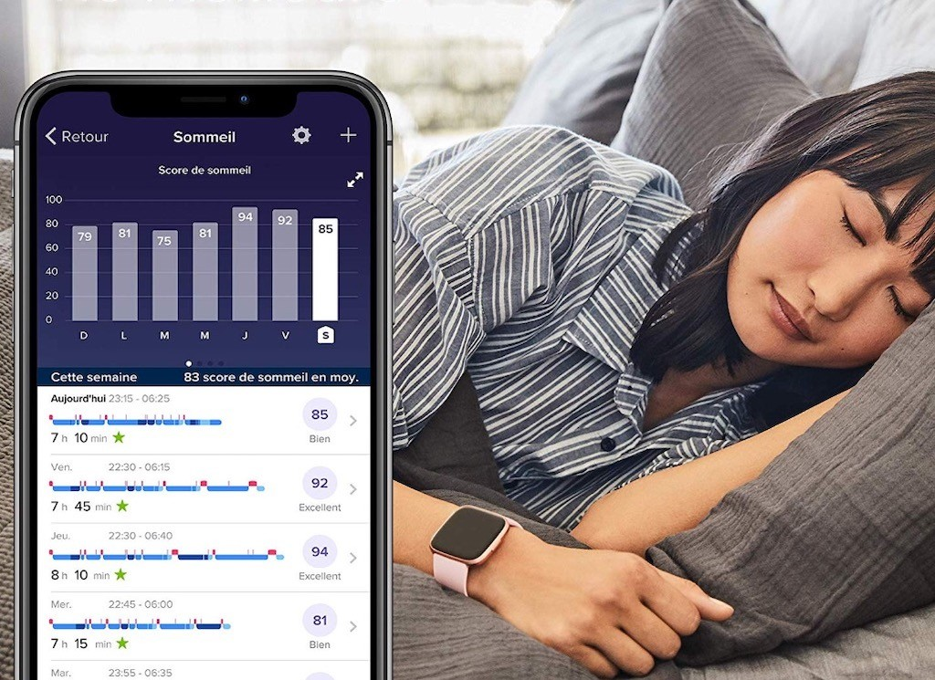 Fitbit Versa 2 suivi sommeil analyse