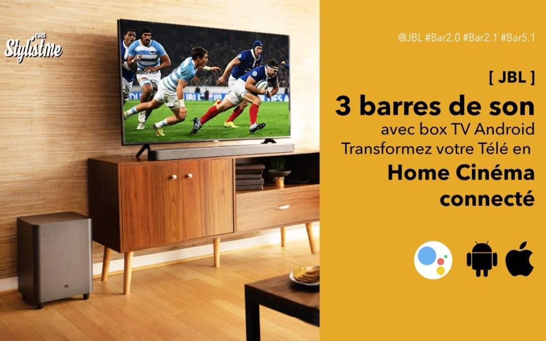 JBL Bar 2.0 2.1 ou 5.1 avis prix test des barres de son et télé connectée