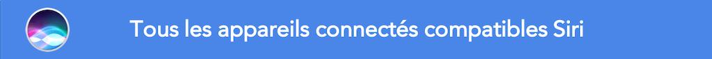 Appareils compatibles Siri Apple HomePod