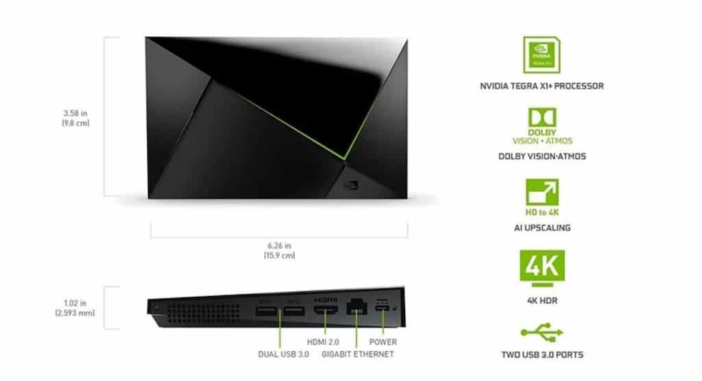 Nvidia Shield TV Pro 2019 caractéristiques