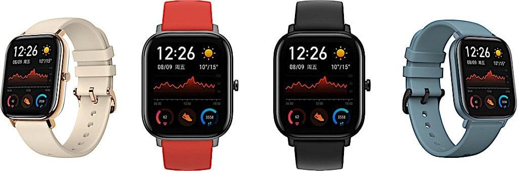 Amazfit GTS Xiaomi comparatif montre connectée