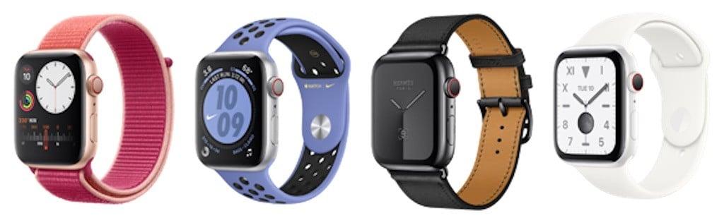 Apple Watch series 5 meilleure montre connectée