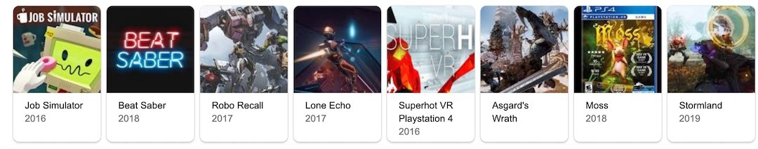 meilleurs jeux VR oculus rift s