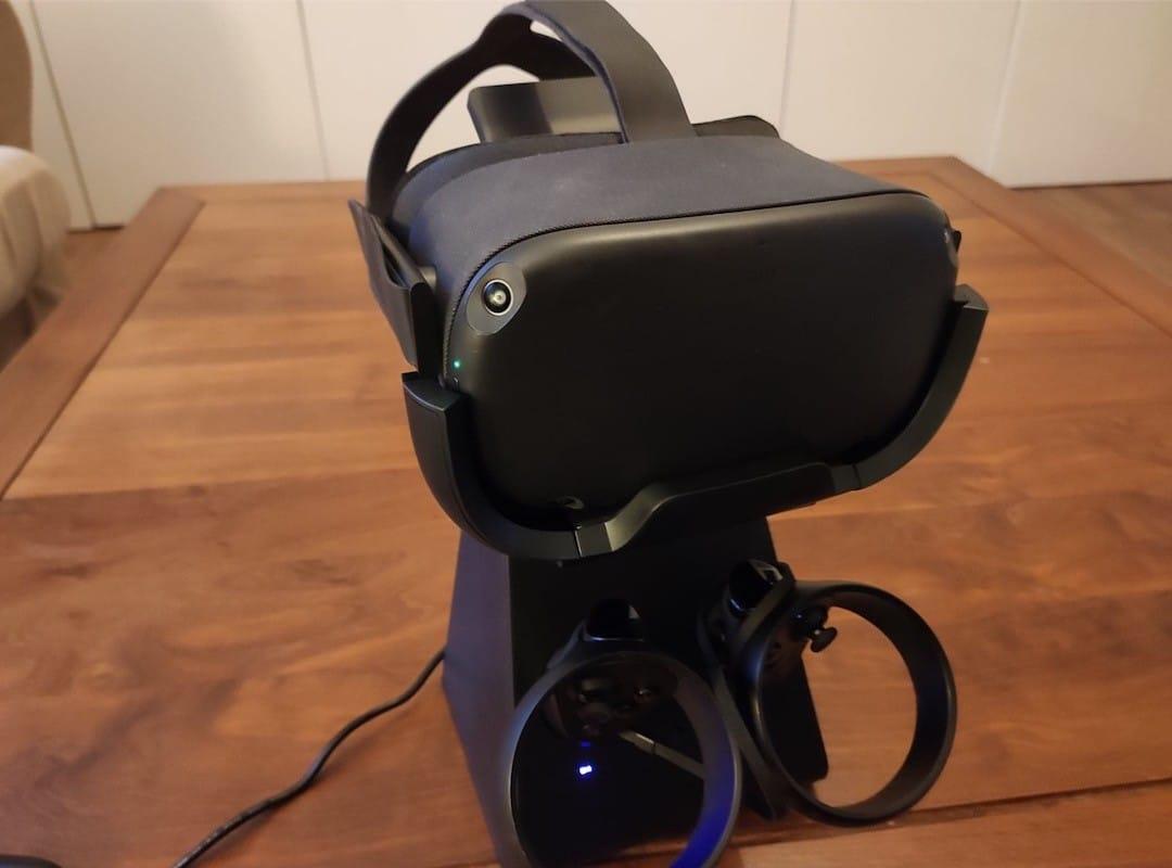 Socle base chargeur sans fil manettes Oculus Quest
