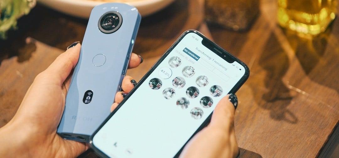application smartphone Ricoh Theta SC2