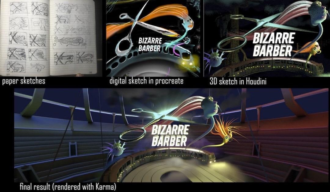 Bizarre Barber jeu VR design
