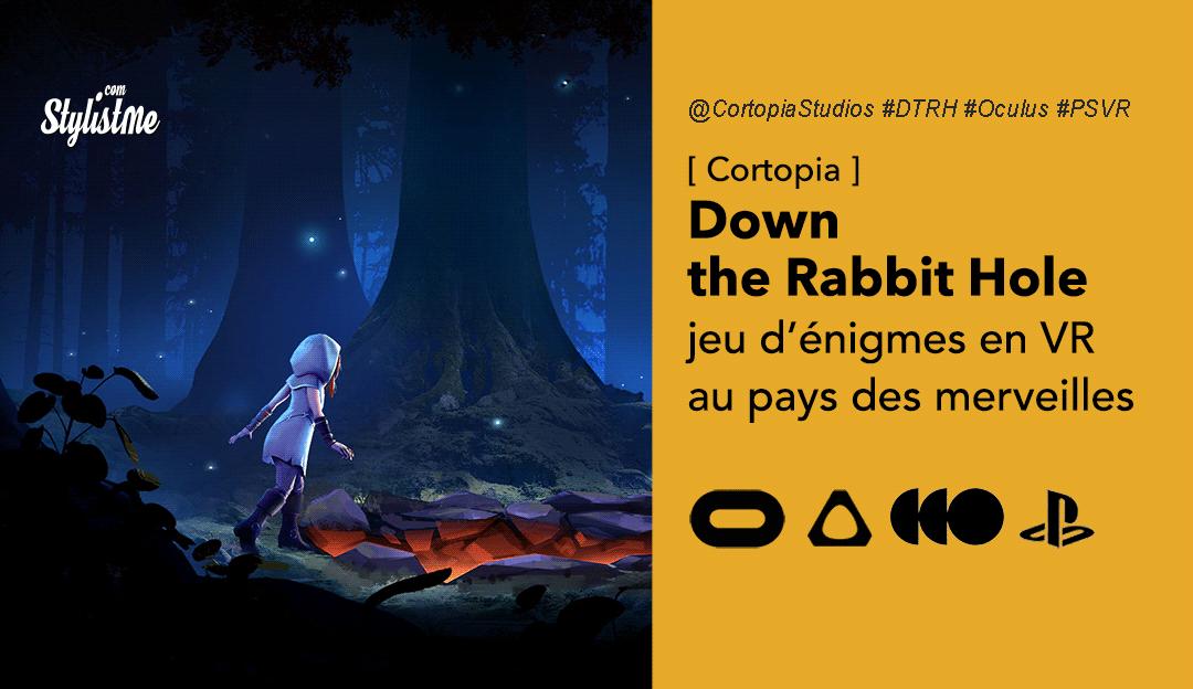 Down The Rabbit Hole test avis prix date jeu énigme VR Oculus Vive HTC PSVR