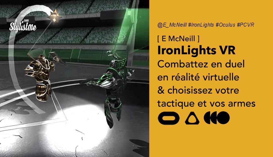IronLights VR avis test prix date jeu combat oculus pcvr