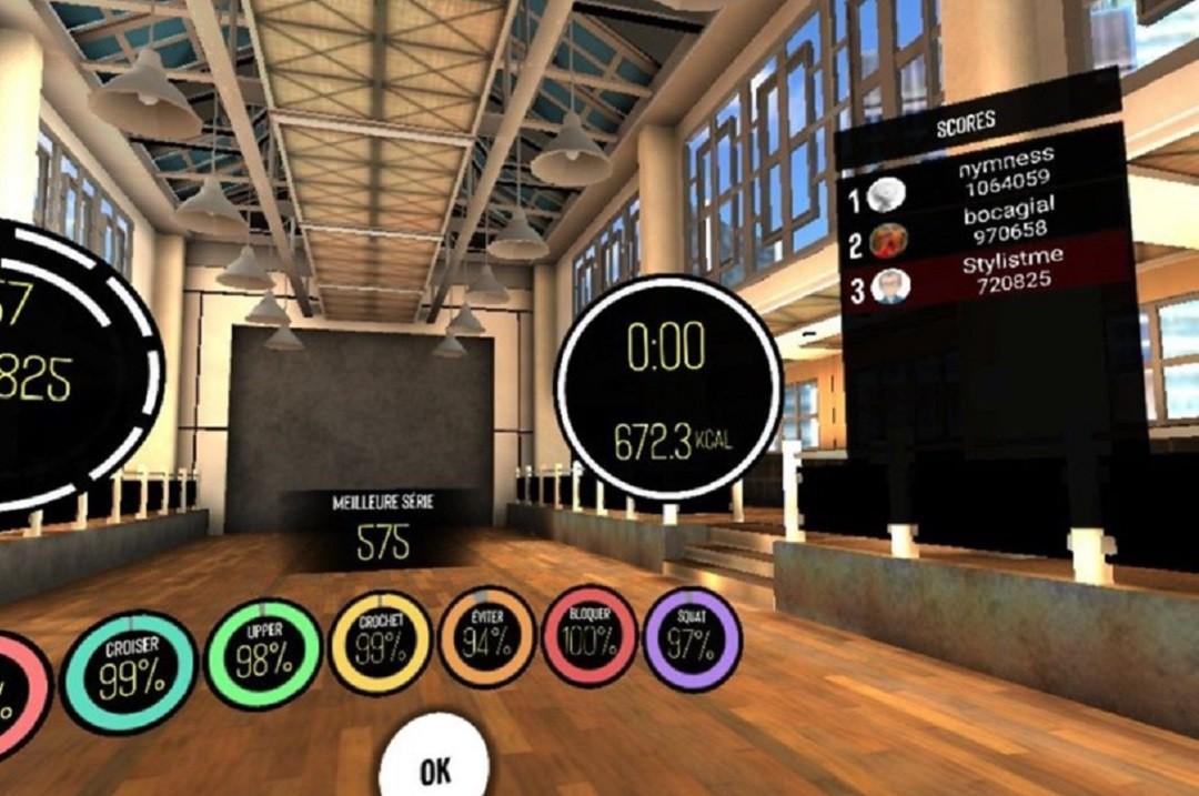 45 minutes 672 calories Box VR