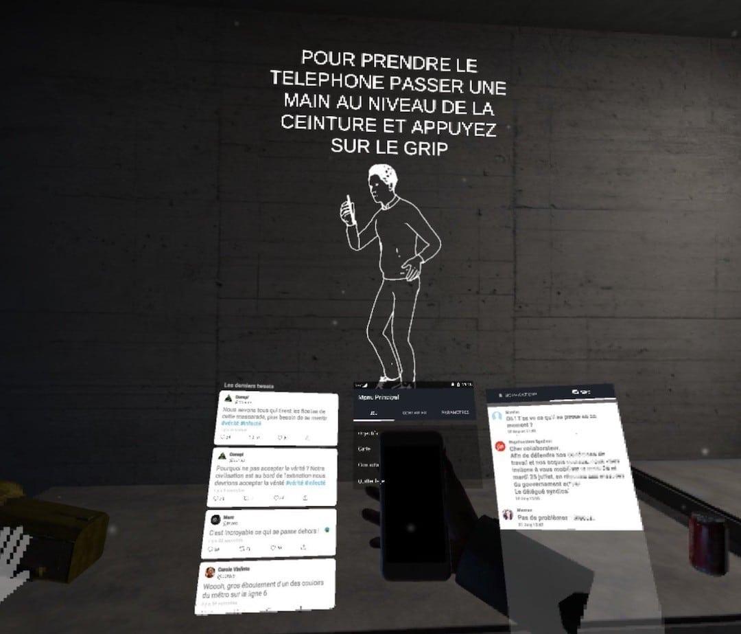 interactions Terminus VR jeu énigmes escape game