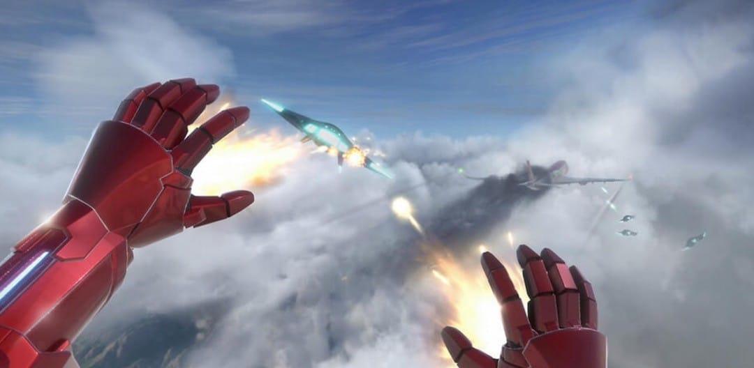 Iron Man VR PSVR combat test