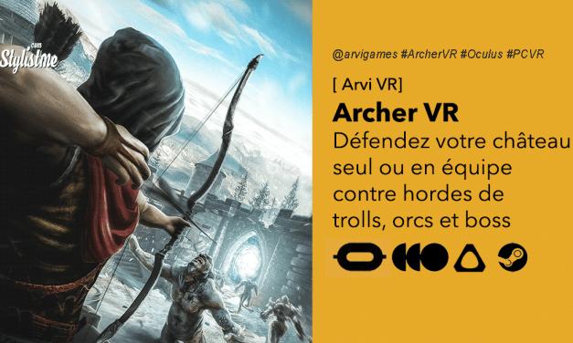 Archer VR : jeu arcade de tir à l'arc en réalité virtuelle Style Elven assassin