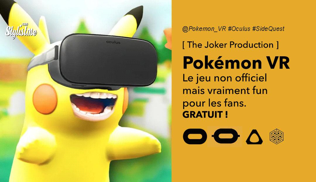 Pokémon VR en réalité virtuelle gratuit pour Oculus Quest
