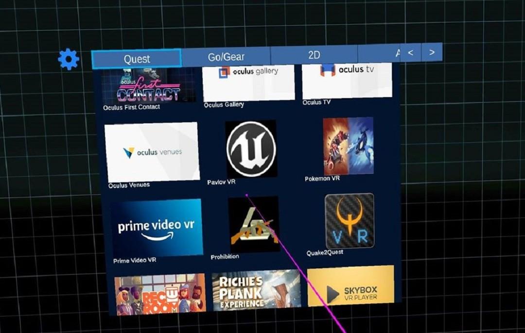 SideQuest Launcher pour Oculus V16 sources inconnues