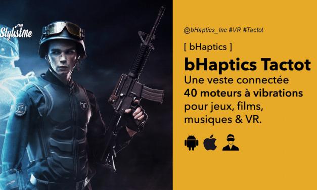bHaptics Tactot la veste retour haptique pour jeux PC et réalité virtuelle
