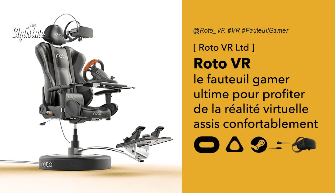 Roto VR avis test prix fauteuil gamer réalité virtuelle