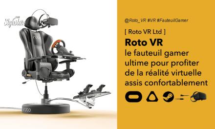 Roto VR le fauteuil motorisé utlime pour l'immersion en réalité virtuelle