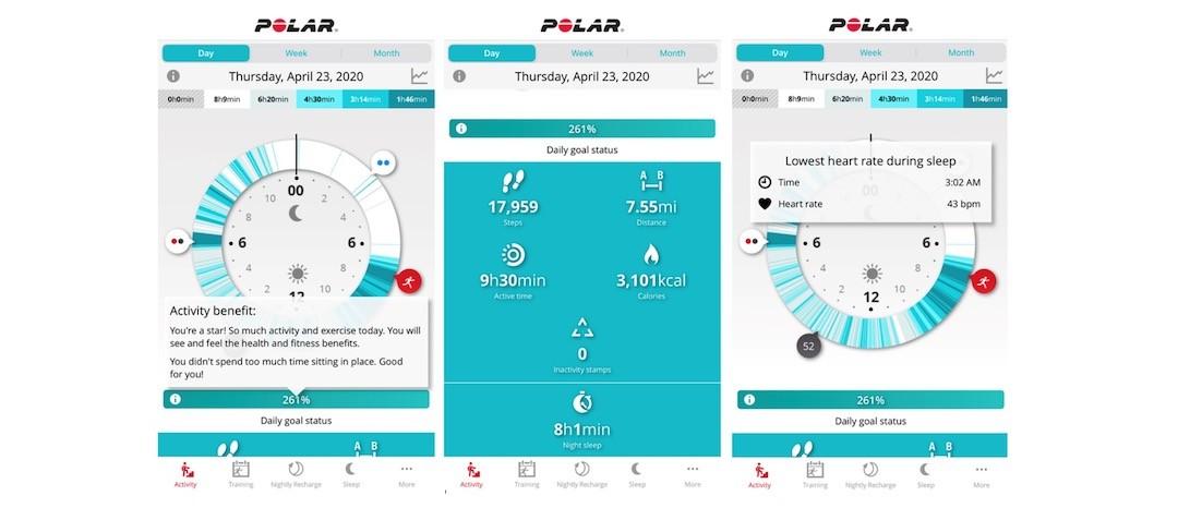 Polar Grit X app Polar Flow