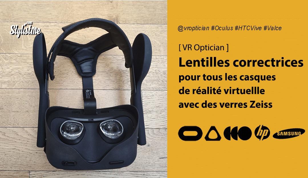VR Optician lentilles correctrices pour tous les casques de réalité virtuelle