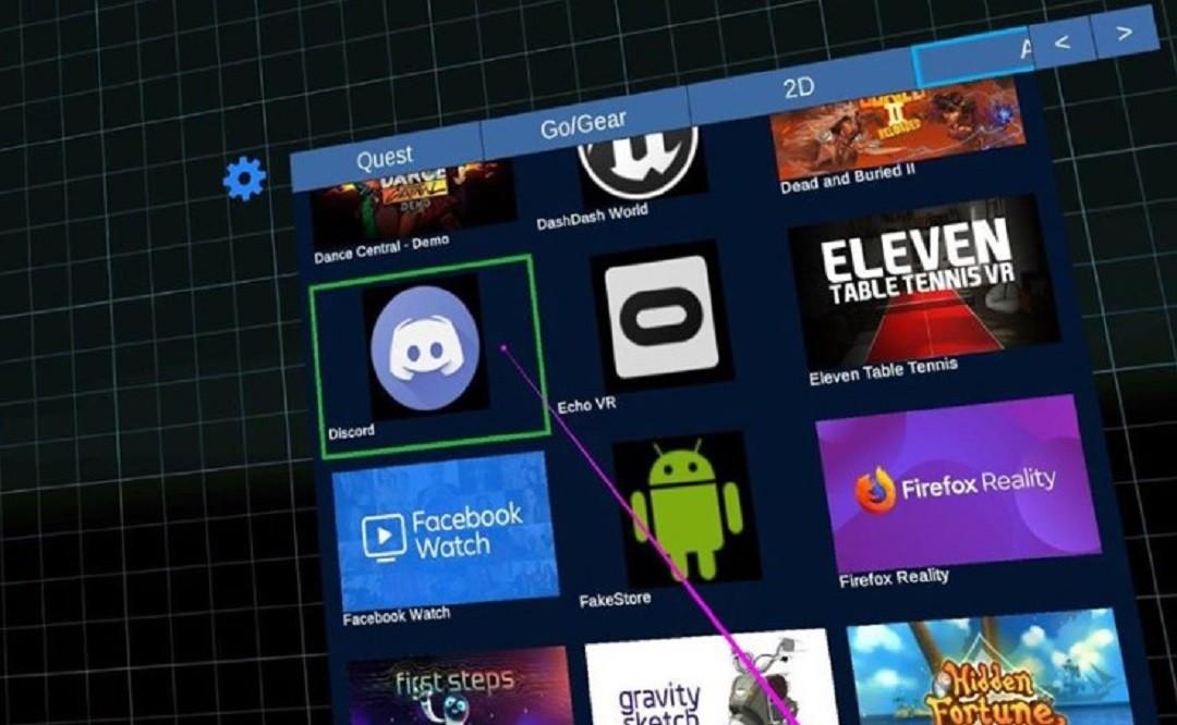 acceder app et jeu Android sur Oculus Quest