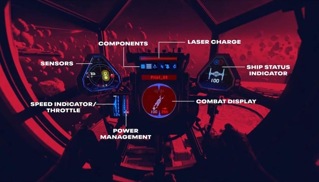 Fonctions cockpit Star Wars Squadrons
