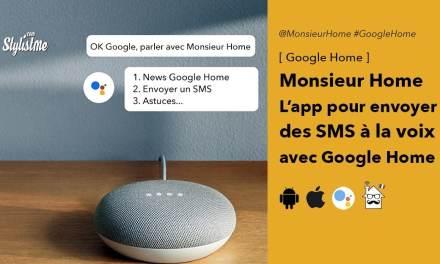 Monsieur Home pour envoyer des SMS avec Google Home (Test)