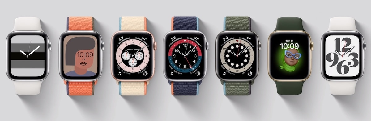 Apple Watch 6 visages facesApple Watch 6 visages faces