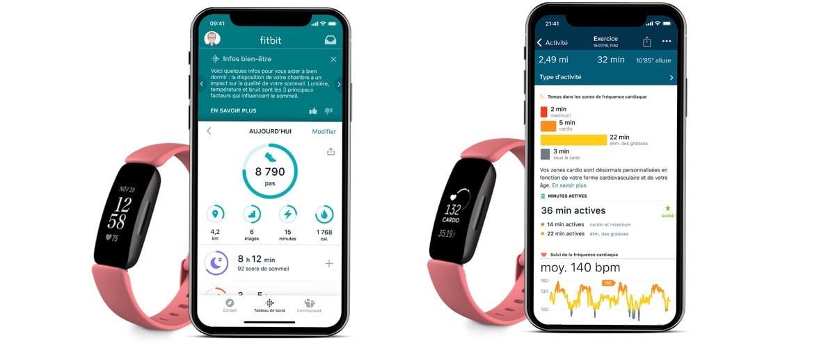 Fitbit Inspire 2 suivi santé sport activité