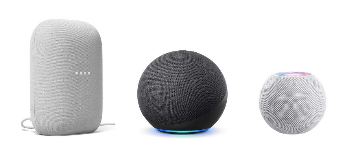 Comparatif HomePod Mini Amazon Echo Google Nest Audio