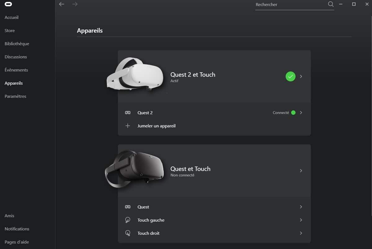 Utiliser deux casques Oculus