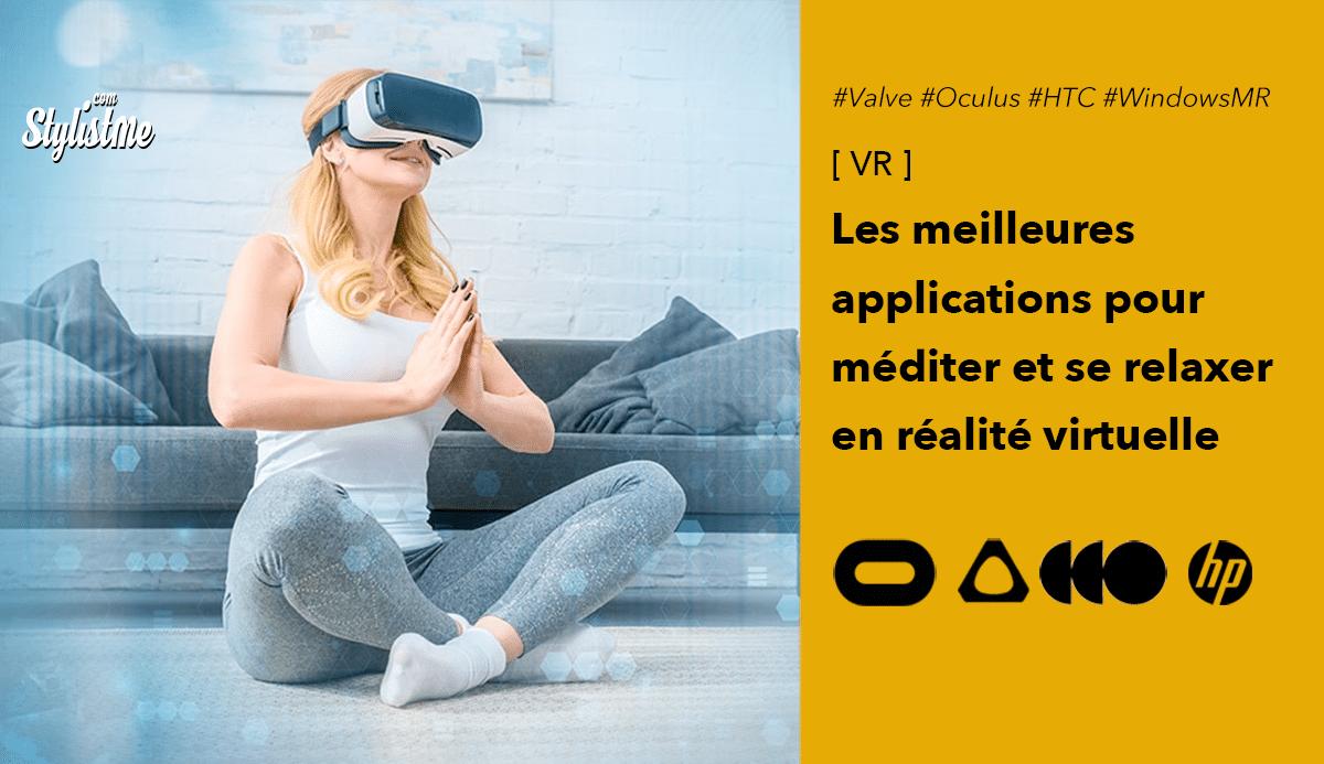 méditation relaxation VR réalité virtuelle