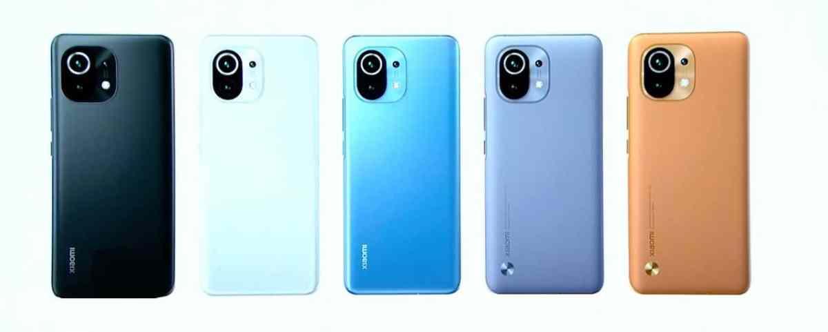 Xiaomi Mi 11 coloris finitions