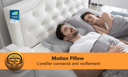 Motion Pillow l'oreiller connecté anti ronflement tout doux [CES 2021]