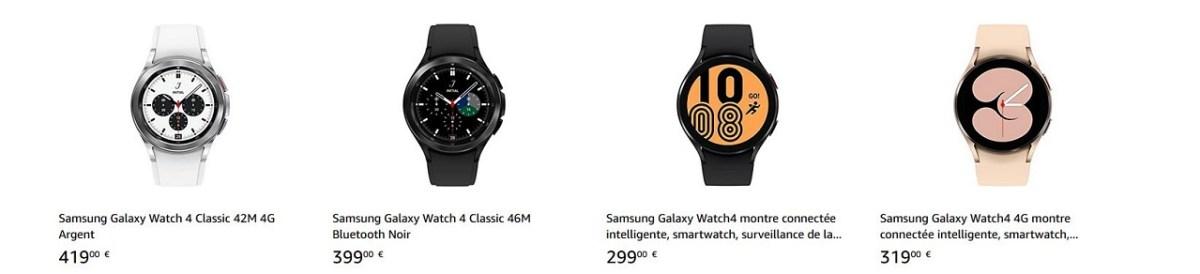 Galaxy Watch 4 prix promotion
