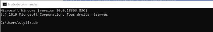 Ouvrir ADB sur PC