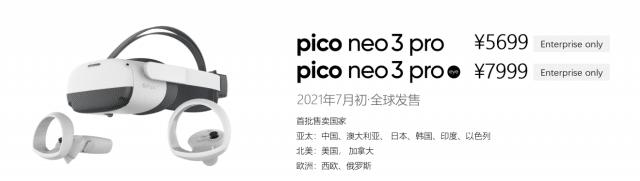 Pico Neo 3 prix date
