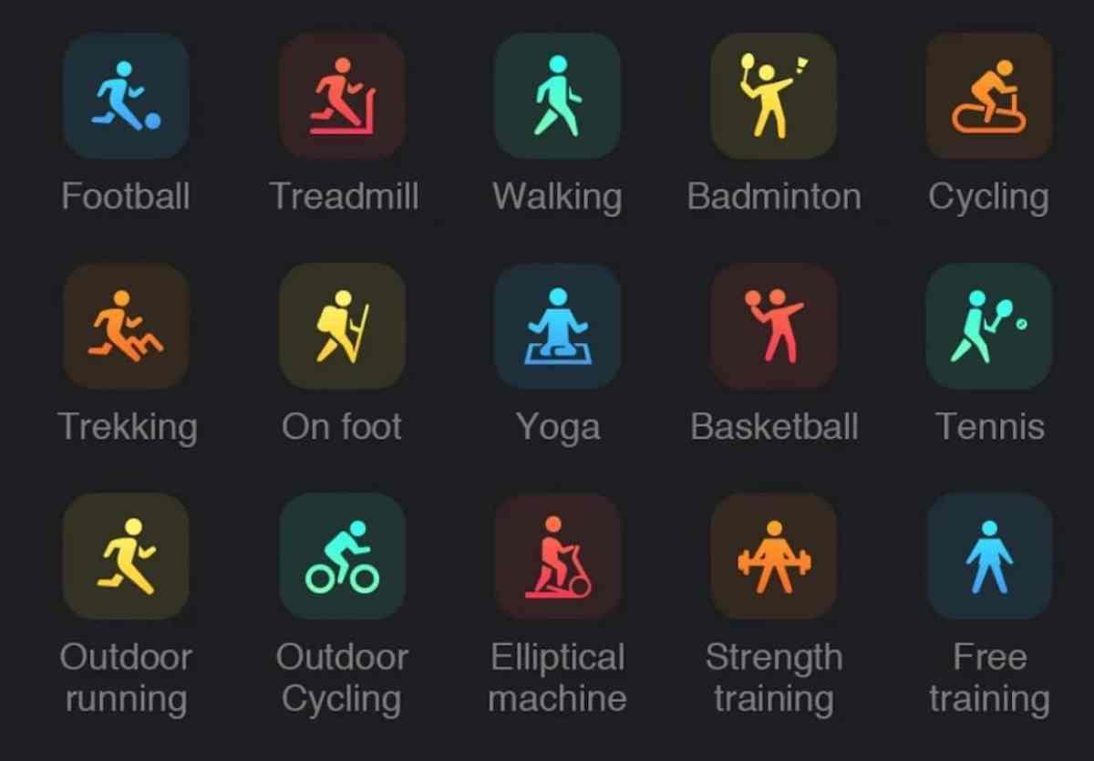 Mibro Color suivi 15 sports