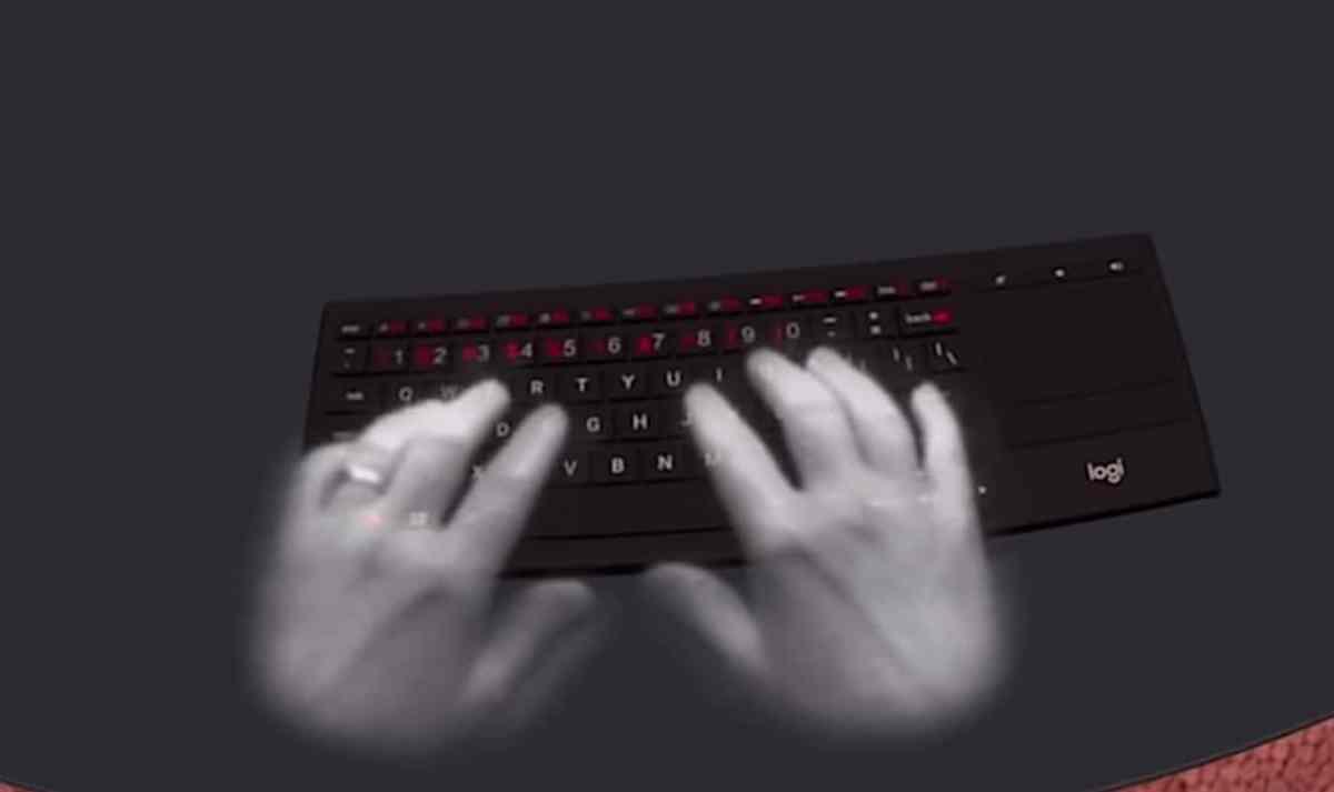 suivi des mains clavier Logitech K820