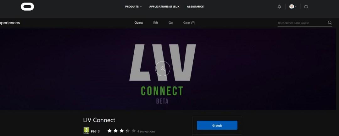 LIV Connect beta Quest tuto