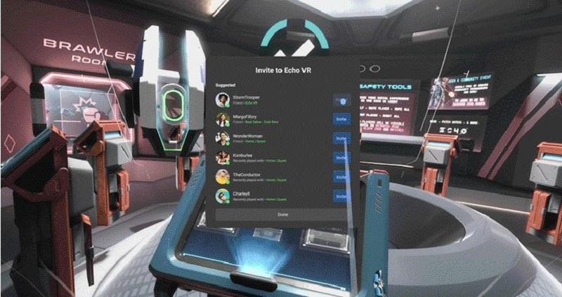 Oculus V31 inviter amis en jeu