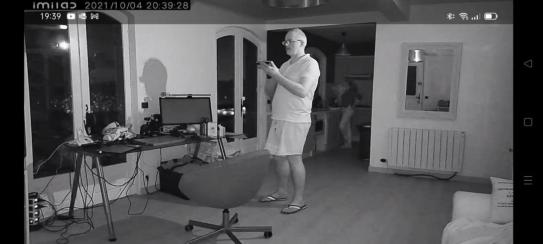 Imilab C30 vue de nuit caméra surveillance Google