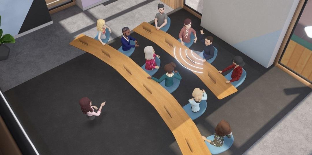 salle de réunion virtuelle Workrooms