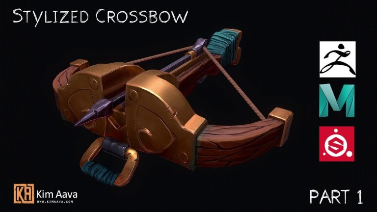 Speed sculpting a crossbow in Zbrush [Zbrush/Maya/Substance]