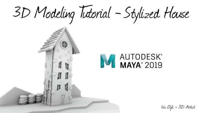 Modeling Stylized House in Autodesk Maya