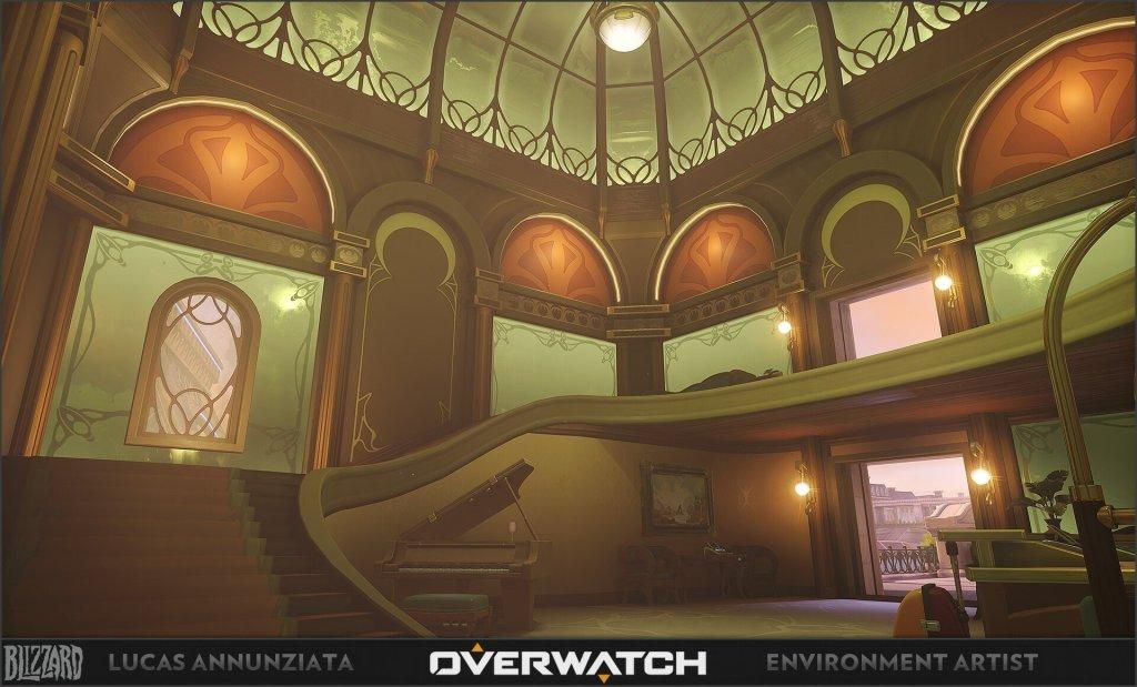 Overwatch – Paris Hotel Interior by Lucas Annunziata