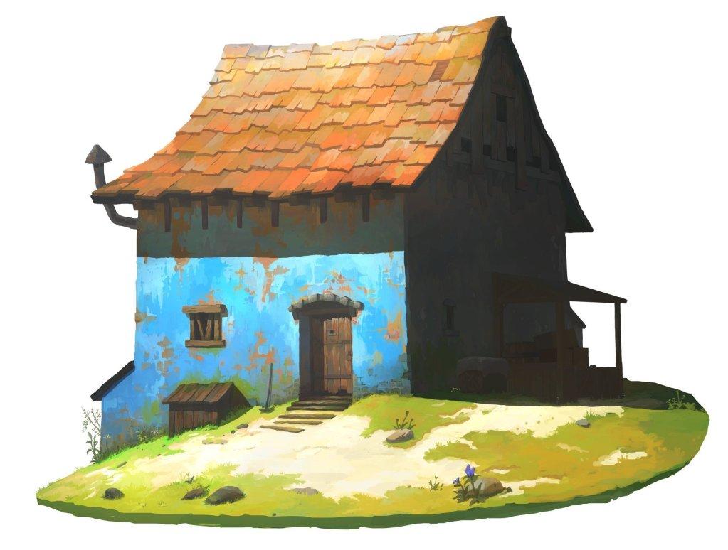 Farmer's hut by OKU .