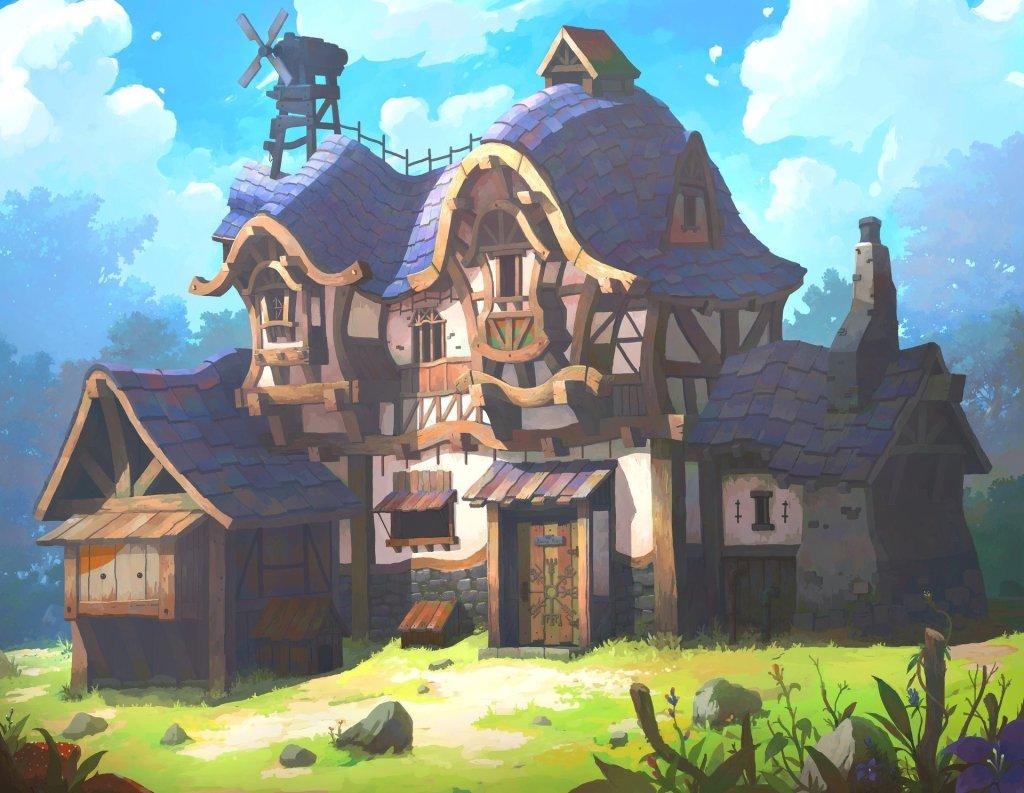 Purple house by OKU .