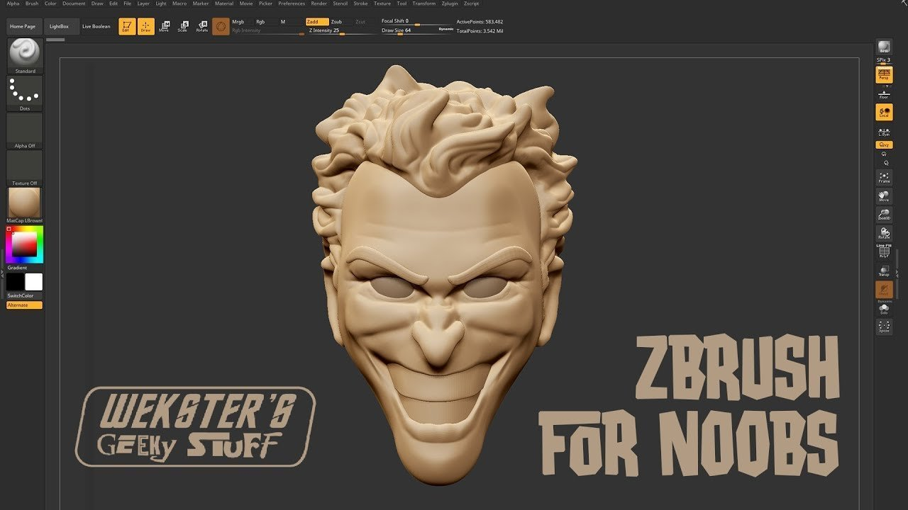 Zbrush Tutorial for Absolute Beginners - Stylized Station