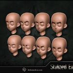Stylized Eyes – ZBrush IMM Brush By  Alchemic Iron Games