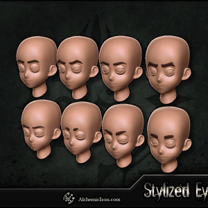 Stylized Eyes – ZBrush IMM Brush By  Alchemic Iron Games